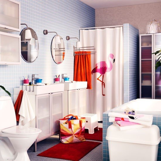 Flamingo-shower-curtain-family-bathroom-ideas--bathroom-ideas--PHOTO-GALLERY--Housetohome.co.uk