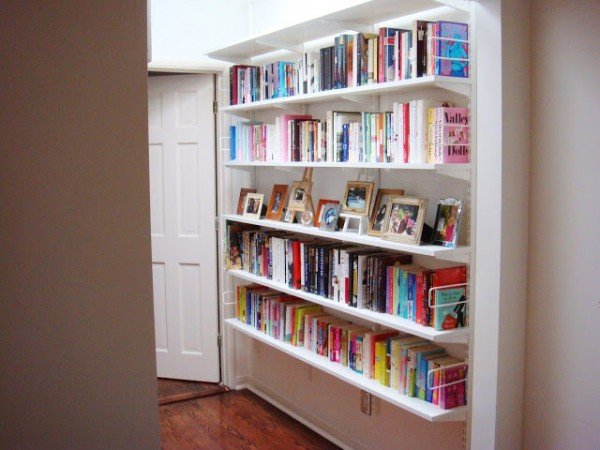 hallway bookshelf micro makeover jlf after cococozy 2