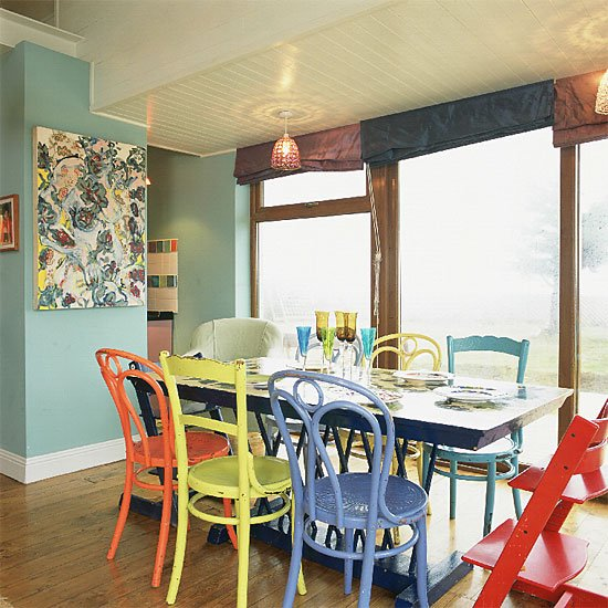 Multi Colored Dining Room