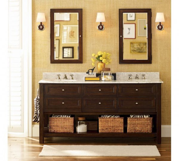 Classic-Double-Sink-Console-from-Pottery-Barn