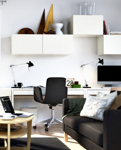 home-office-with-a-storage-in-a-living-room
