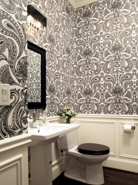 pictures-of-toilet-bowls-in-contemporary-bathroom-with-paisley-wallpaper