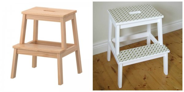 Bekvam Stool Before and After