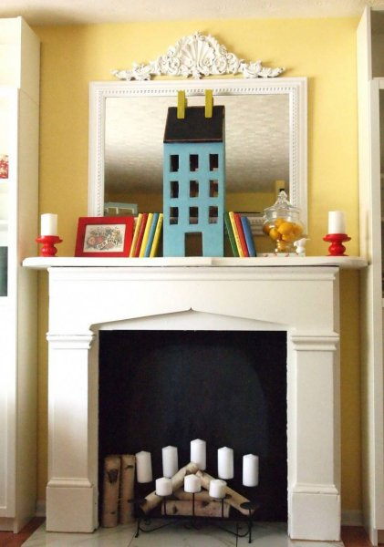 Fake-fireplace-for-kids-bedroom