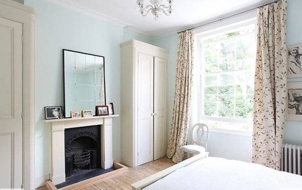 light locations victorian home house kentish town london england bedroom light blue fireplace traditional decor