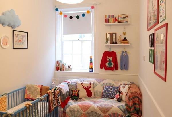 Eclectic-Nursery-Decor-Ideas-Showing-Open-Wall-Shelving-Ideas
