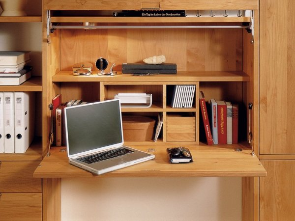 elegant-wood-bookcase-with-integrated-folding-desk-for-kids-study-room