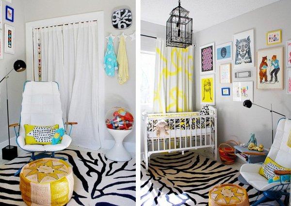 grey-yellow-nursery-kids-room-decoration-funny-zebra