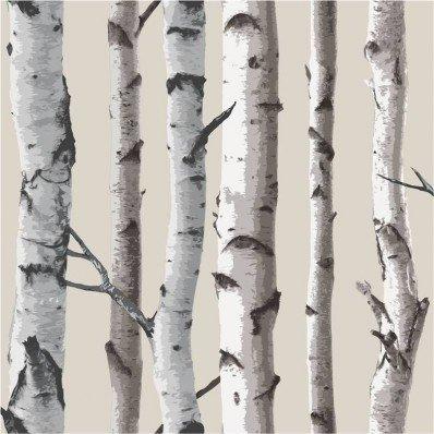 fák birch tree fine decor