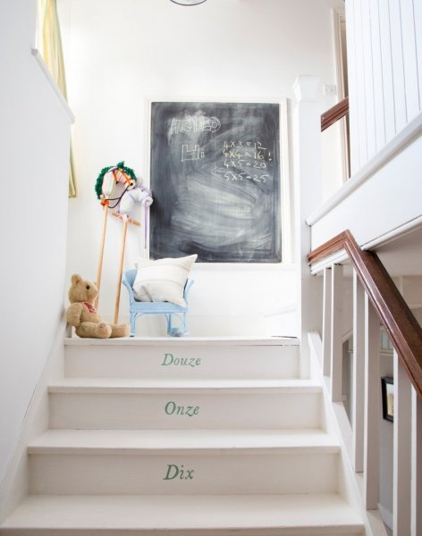 French-numbered-stairs-and-chalkboard