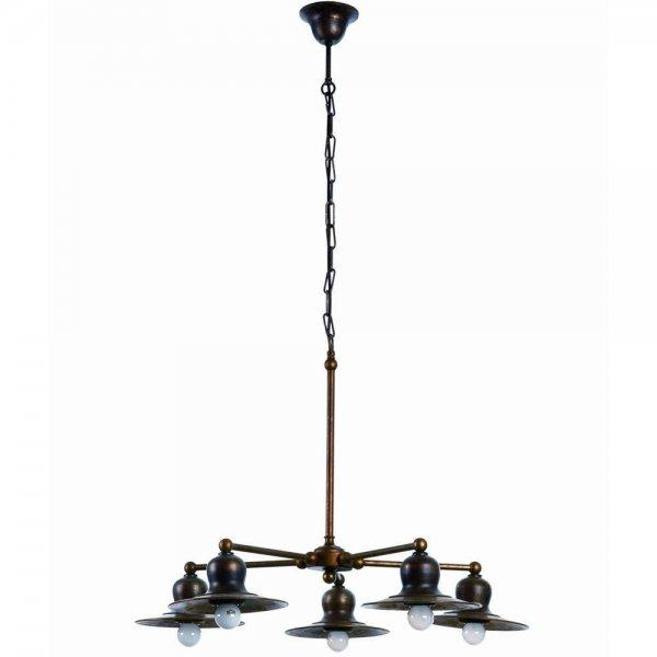 IMAS 35973 5L rez csillar nappali klasszikus lampa 5 agu otagu rez tanyeros veranda toscana toszkan nyaralo etterem