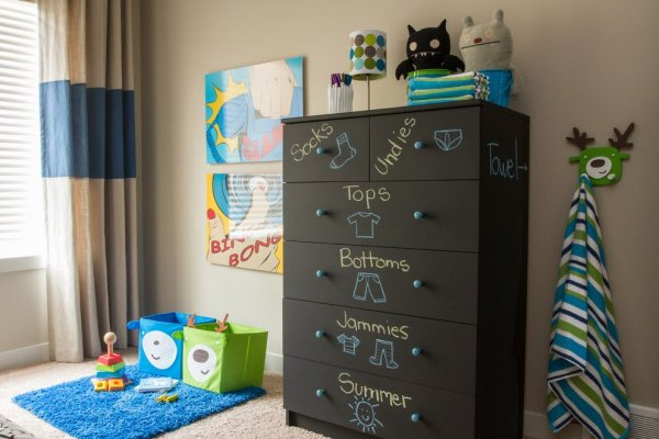 Sumptuous-Ikea-Hemnes-Dresser-method-Calgary-Contemporary-Kids-Remodeling-ideas-with-black-chest-of-drawers-black-dresser-blue-drawer-pulls-blue-pulls-blue-rug-chalkboard