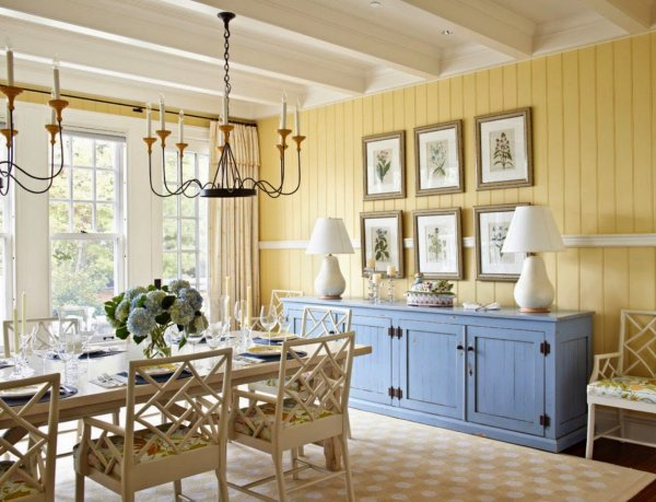 dining-room-yellow-and-white-colors-for-dining-room-painting-ideas-with-rectangle-shaped-wood-dining-table-that-have-countertop-decorating-complete-with-the-dining-chairs-also-beautiful-rounded-patter másolata