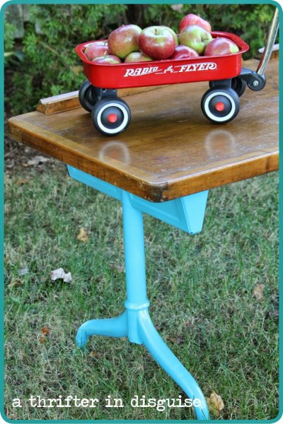 vintage childrens double desk radio flyer wagon