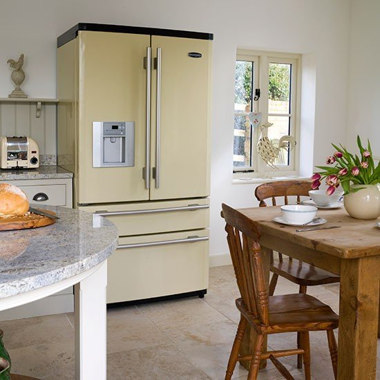 Cream-American-Style-Fridge-Freezer-Kitchen-Beautiful-Kitchens-Housetohome