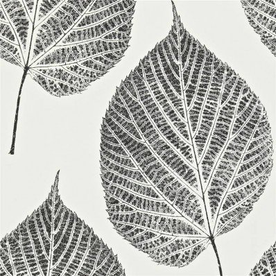 ONYX BLACK CHALK WHITE - 110373 - LEAF - MOMENTUM 2 - HARLEQUIN WALLPAPER