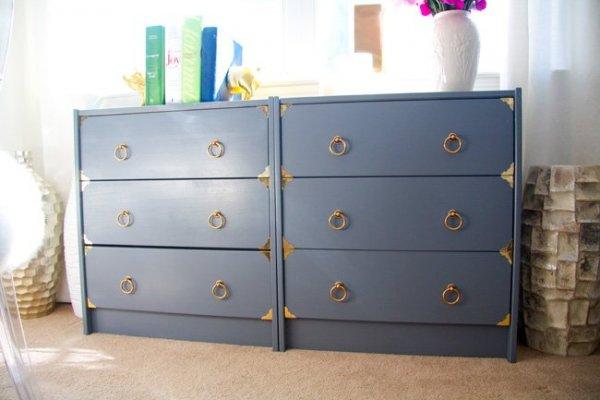 Glitter-and-Goat-Cheese-Ikea-Rast-dresser-hack-Painted-dark-gray-with-brass-hardware-2