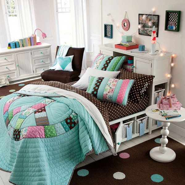 teens-bedroom-stunning-teenage-girl-bedroom-ideas-for-small-rooms-with-comfy-bed-organizing-storage-also-trendy-blanket-and-cushions-beside-rounded-small-table-in-brown-fur-rug-decoration-sophisticate